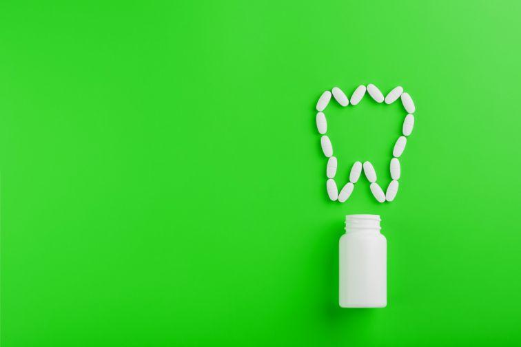 black marks on teeth at gum line medication